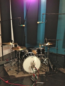 Mike Avenaim's drumset while Recording Drums for Jordan Millar