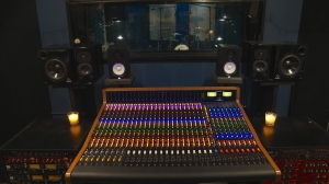 The Trident 88 recording console at Ultimate Studios, Inc